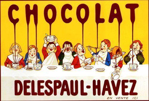 AFFICHE PUBLICITAIRE CHOCOLAT DELESPAUL-HAVEZ